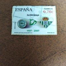 Sellos: SELLO CENTENARIO REAL BETIS BALOMPIE ESPAÑA. Lote 189683603