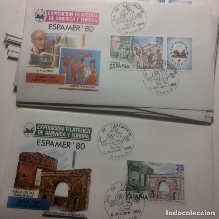 Sellos: ESPAMER 80 hojitas sellos25,25,50y100 - Foto 3 - 187425365