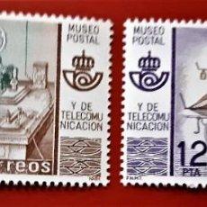 Sellos: SELLOS ESPAÑA 1981 - MUSEO POSTAL - 2637 A 2638 . Lote 190099242