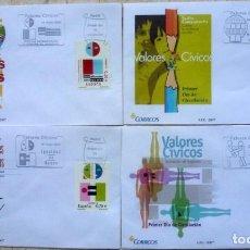 Sellos: SOBRES ESPAÑA 2007- FOTO 557- VALORES CIVICOS. Lote 190277238