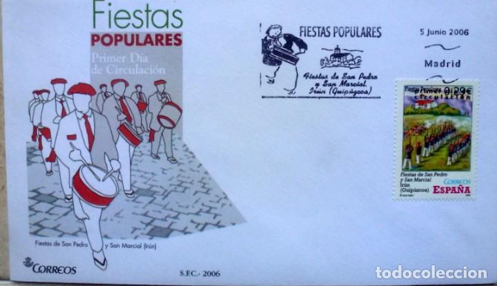 SOBRES ESPAÑA 2006- FOTO 559 - FIESTAS POPULARES (Sellos - España - Juan Carlos I - Desde 2.000 - Cartas)