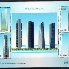 Sellos: ESPAÑA 4507** - AÑO 2009 - ARQUITECTURA - CUATRO DE TORRES DE MADRID. Lote 190348892