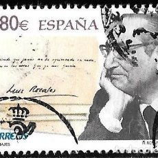 Timbres: ESPAÑA 2011. POETA LUIS ROSALES. EDIFIL 4670. USADO. Lote 190557428