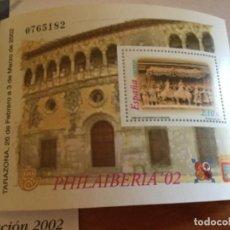 Sellos: ESPAÑA 2002 EDIFIL 3881 HOJA BLOQUE SELLO NUEVO. PHILAIBERIA TARAZONA. Lote 190616761
