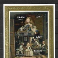 Sellos: VELÁZQUEZ. PINTURA EMISIÓN CONJUNTA: ESPAÑA-AUSTRIA. EMIS. 22-10-2009. Lote 190912898
