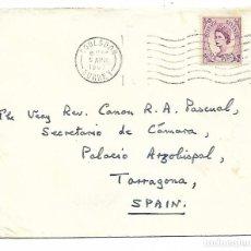 Sellos: SOBRE CON SELLO DESDE COULSDON - SURREY - INGLATERRA - SIX PENCE. Lote 191062853