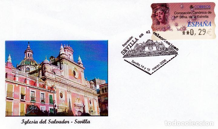 ESPAÑA.- SOBRE ILUSTRADO CON ETIQUETA DE LA VIRGEN DE LA ESTRELLA DE SEVILLA CON MATASELLOS (Sellos - España - Juan Carlos I - Desde 1.986 a 1.999 - Cartas)