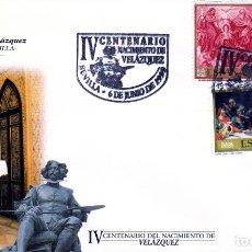 Sellos: ESPAÑA.- SOBRE ILUSTRADO CON MATASELLOS IV CENTENARIO DE VELAZQUEZ EN SEVILLA. . Lote 191195828