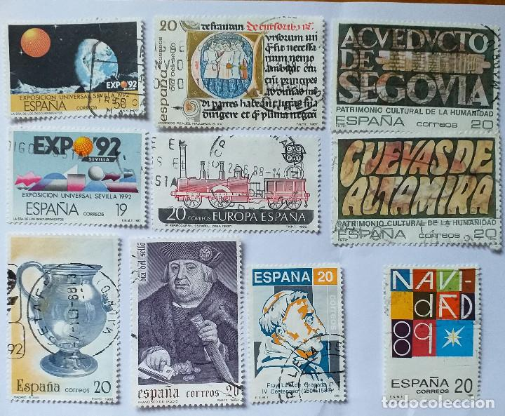 LOTE 10 SELLOS USADOS 1987-88-89 (Sellos - España - Juan Carlos I - Desde 1.986 a 1.999 - Usados)