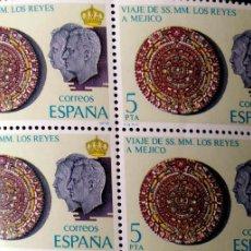 Sellos: ESPAÑA. 2493 VIAJE DE LOS REYES A HISPANOAMÉRICA: CALENDARIO AZTECA, EN BLOQUE DE CUATRO. 1978. SELL. Lote 191354748