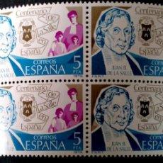 Sellos: ESPAÑA. 2511 CENTENARIO DE LA SALLE, EN BLOQUE DE CUATRO. 1979. SELLOS NUEVOS Y NUMERACIÓN EDIFIL.. Lote 191363508