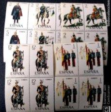 Sellos: ESPAÑA. 2451/55 UNIFORMES MILITARES: ABANDERADO, TENIENTE CORONEL, TENIENTE DE ARTILLERÍA, CAPITÁN . Lote 191364370