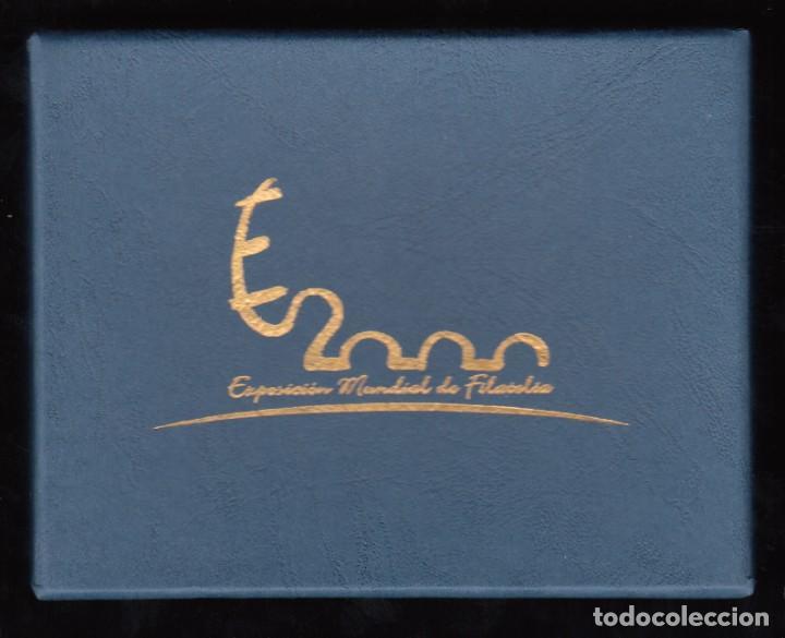 Sellos: ESPAÑA, Hojitas Exposición Mundial de Filatelia, Misma Numeración EDIFIL Nº 3756 / 3766 SIN DENTAR - Foto 2 - 191522036