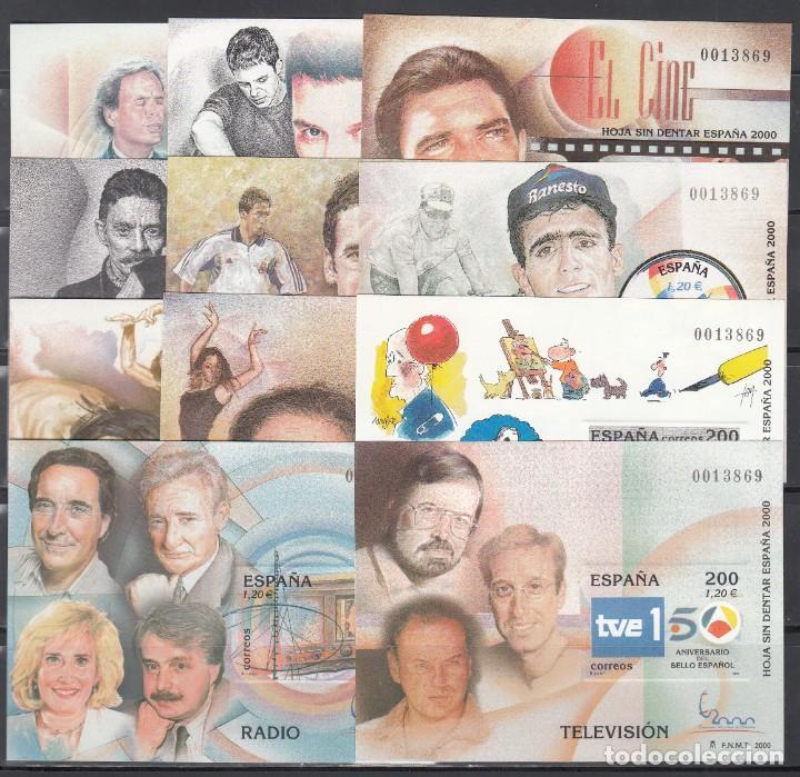 ESPAÑA, HOJITAS EXPOSICIÓN MUNDIAL DE FILATELIA, MISMA NUMERACIÓN EDIFIL Nº 3756 / 3766 SIN DENTAR (Sellos - España - Juan Carlos I - Desde 2.000 - Nuevos)
