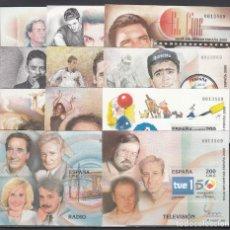 Sellos: ESPAÑA, HOJITAS EXPOSICIÓN MUNDIAL DE FILATELIA, MISMA NUMERACIÓN EDIFIL Nº 3756 / 3766 SIN DENTAR. Lote 210285106