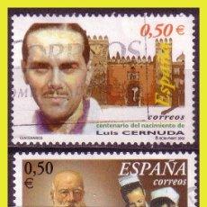 Sellos: 2002 CENTENARIOS, EDIFIL Nº 3894 Y 3895 (O) . Lote 191578338