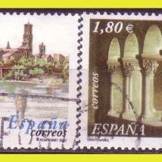 Sellos: 2002 ANIVERSARIOS, TUDELA Y SANT CUGAT, EDIFIL Nº 3892 Y 3893 (O) . Lote 191578530