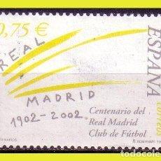 Sellos: 2002 CENTENARIO REAL MADRID, EDIFIL Nº 3880 (O) . Lote 191579543