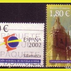 Sellos: 2002 EXPOS. MUNDIAL DE FILATELIA JUVENIL, EDIFIL Nº 3877 Y SH3878 (O) . Lote 191579826
