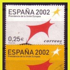 Sellos: 2002 PRESIDENCIA DE LA UNIÓN EUROPEA, EDIFIL Nº 3865 Y 3866 (O) . Lote 191580230