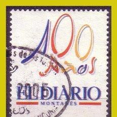 Sellos: 2003 DIARIOS CENTENARIOS EL DIARIO MONTAÑÉS, SANTANDER, EDIFIL Nº 3998 (O) . Lote 191651411
