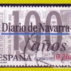 Sellos: 2003 DIARIOS CENTENARIOS DIARIO DE NAVARRA, EDIFIL Nº 4000 (O) . Lote 191651446