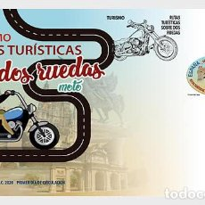 Sellos: SPAIN 2020 - TOURISM - SIGHTSEEING ROUTES ON TWO OR FOUR WHEELS FDC. Lote 191659936