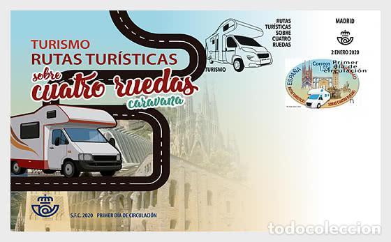 SPAIN 2020 - TOURISM - SIGHTSEEING ROUTES ON TWO OR FOUR WHEELS FDC (Sellos - España - Juan Carlos I - Desde 2.000 - Nuevos)