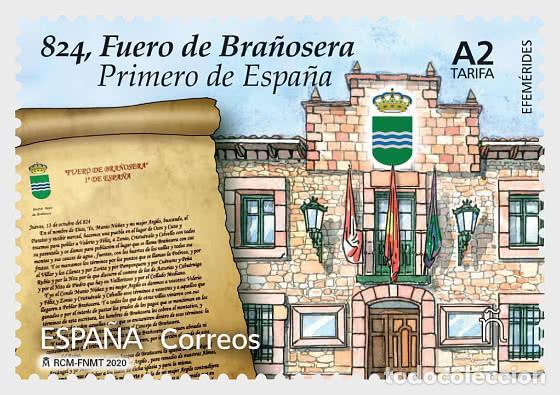 SPAIN 2020 - ANNIVERSARIES - 824, THE TOWN CHARTER OF BRAÑOSERA MNH (Sellos - España - Juan Carlos I - Desde 2.000 - Nuevos)