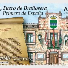 Sellos: SPAIN 2020 - ANNIVERSARIES - 824, THE TOWN CHARTER OF BRAÑOSERA MNH. Lote 191660127