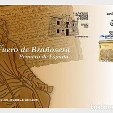 Sellos: SPAIN 2020 - ANNIVERSARIES - 824, THE TOWN CHARTER OF BRAÑOSERA FDC. Lote 191660152