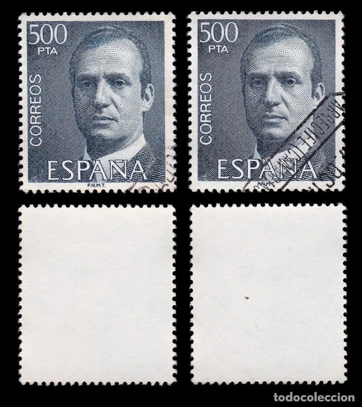 Sellos: Juan Carlos I 1990.500 pts azul.4 sellos.Usado.Edifil 2607 - Foto 2 - 191857745