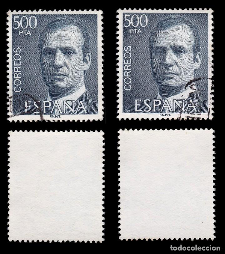 Sellos: Juan Carlos I 1990.500 pts azul.4 sellos.Usado.Edifil 2607 - Foto 3 - 191857745