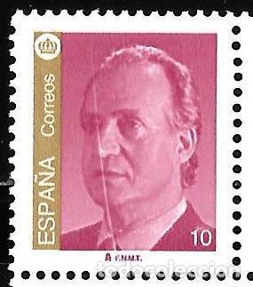 VARIEDAD RAYA BLANCA VERTICAL. SERIE BÁSICA 1995. EDIFIL 3378A / 3381A (Sellos - España - Juan Carlos I - Desde 1.986 a 1.999 - Nuevos)