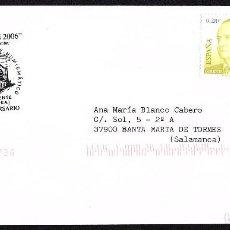Sellos: SOBRE CIRCULADO EXFILBE 2006 BENAVENTE CON MATASELLOS CONMEMORATIVO. Lote 192461381