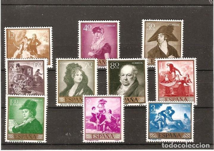 SELLOS DE ESPAÑA AÑO 1958 PINTOR GOYA SELLOS NUEVOS** (Sellos - España - Juan Carlos I - Desde 1.975 a 1.985 - Nuevos)