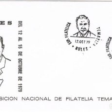 Sellos: 0777. CARTA EXPOSICION NULES (CASTELLON) 1979. FRANS DE TROYER. Lote 192806067