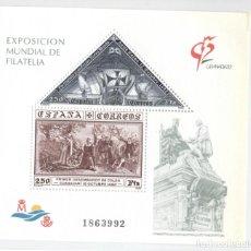 Sellos: HOJITA EXPOSICION MUNDIAL DE FILATELIA GRANADA ´92 Nº1863992. Lote 192857812