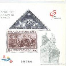 Sellos: HOJITA EXPOSICION MUNDIAL DE FILATELIA GRANADA ´92 Nº1863994. Lote 192857866