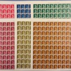 Selos: 1976-ESPAÑA 2344/49 MNH** JUAN CARLOS I - SERIE COMPLETA EN PLIEGOS DE 100 SELLOS - VC: 125 €. Lote 193021378