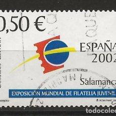 Sellos: TV_001/ ESPAÑA USADOS 2002, EDIFIL 3877, ESPAÑA 2002. Lote 193053325