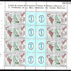 Sellos: MINIPLIEGO NUEVO II CENT. CORREO DE INDIAS - ESPAMER 77. Lote 193117292