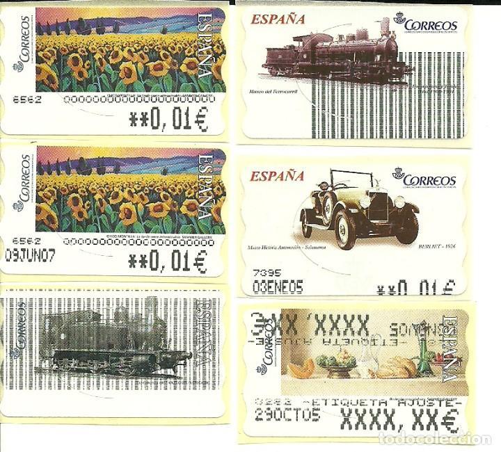 6 ATMS CON ERRORES - ESTAMPILLAS ESPAÑA (Sellos - España - Juan Carlos I - Desde 2.000 - Usados)