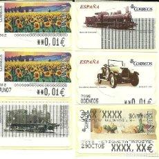 Sellos: 6 ATMS CON ERRORES - ESTAMPILLAS ESPAÑA. Lote 193737990