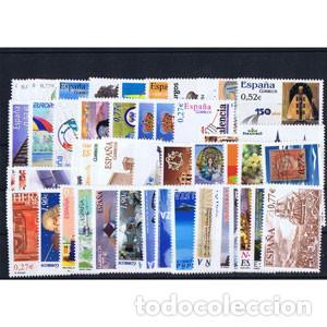 SELLOS ESPAÑA AÑO COMPLETO AÑO 2004 DESCUENTO BAJO FACIAL. INCLUYE HB Y CARNETS (Sellos - España - Juan Carlos I - Desde 2.000 - Nuevos)