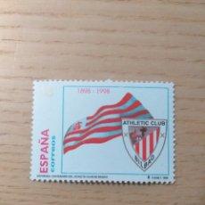 Sellos: FÚTBOL SELLO CENTENARIO ATHLETIC BILBAO 1898 1998. Lote 194256735