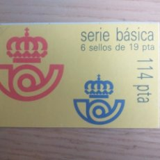 Sellos: SELLOS CARNET SERIE BÁSICA JUAN CARLOS I 6 SELLOS DE 19 PESETAS. Lote 194290021