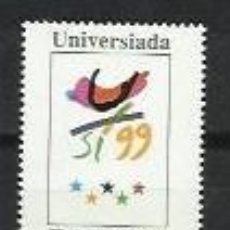 Sellos: ID-3810.-FILATELIA UNIVERSIADA.-Nº EDIFIL3647,-DE HB.-FACIAL 185 P.-AÑO 1999. Lote 194494685