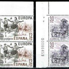 Sellos: ESPAÑA 1981 - EDIFIL 2615/2616 (**) EN BLOQUE DE 4. Lote 194505397