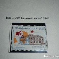 Sellos: 1987 - XXV ANIVERSARIO OCDE - COMPLETA - EDIFIL 2874 ***. Lote 194525988